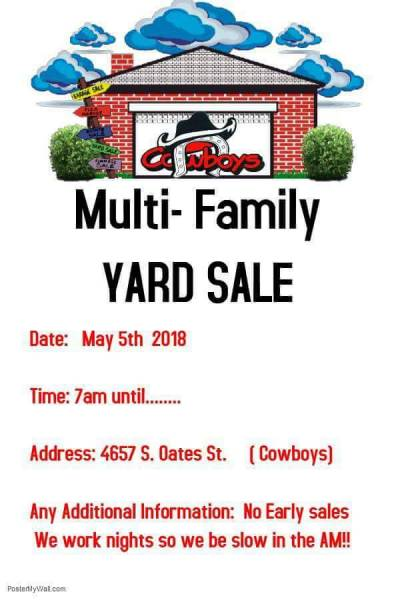 Multi-Family Yard Sale This Saturday