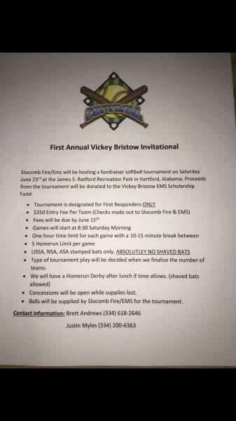 FIRST ANNUAL VICKEY BRISTOW INVITATIONAL