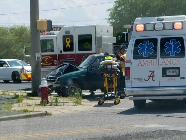 1:45 PM... Vehicle vs Pole at South Oates and West Selma