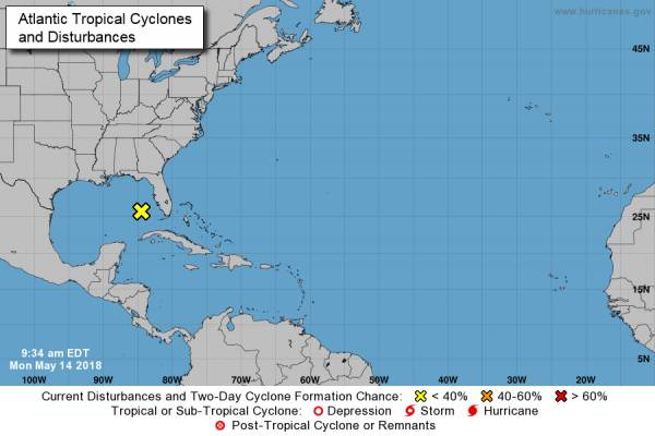 National Hurricane Center Watching a Possible Disturbance in the Gulf