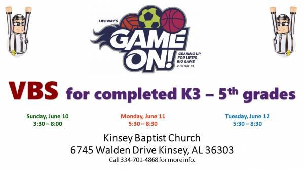 Kinsey Baptist Church Vacation Bible School