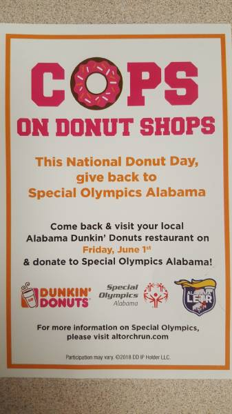 Dunkin Donuts In Dothan and Enterprise - TODAY TIL 11