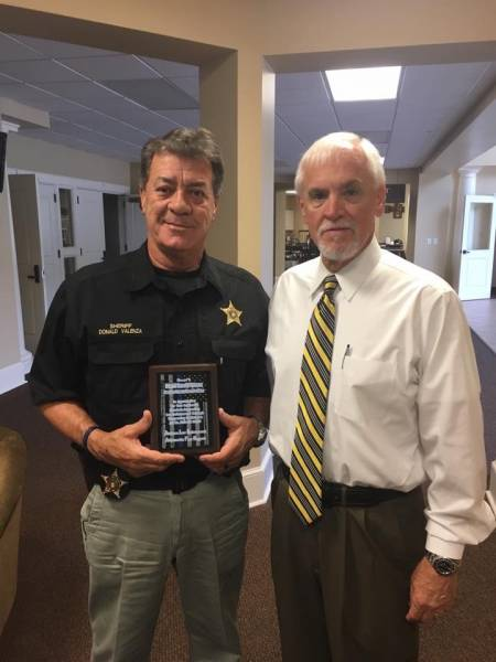 PEER Support Award Presented To Houston County Sheriff Donald Valenza