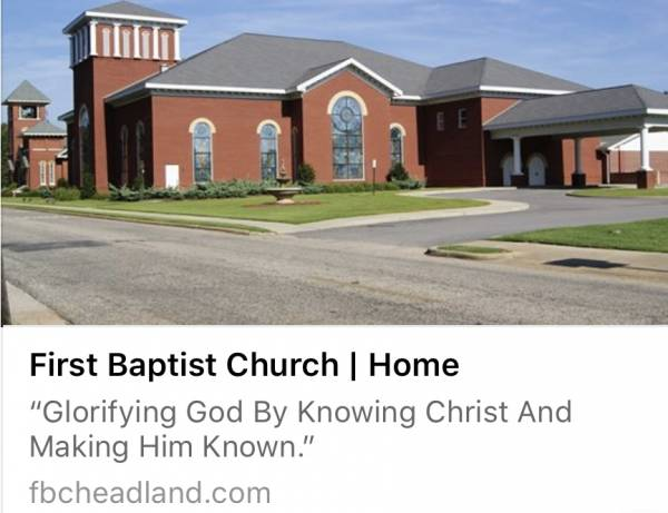 VBS at First Baptist Church Headland Begins Today at 6:00 PM