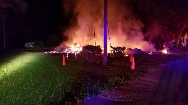 2:22 AM....Structure Fire in Gordon