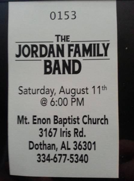 The Jordan Family Band Coming August 11th