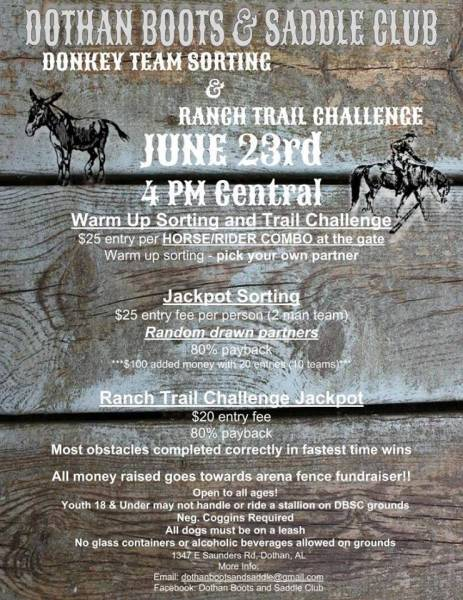 Donkey Team Penning and Ranch Trail Challenge