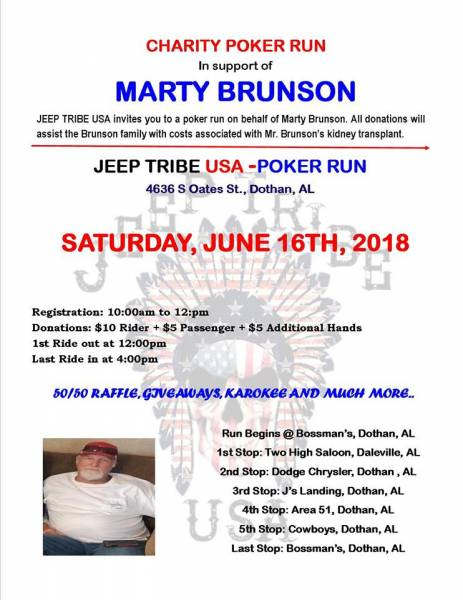 Poker Run for Marty Brunson Set for June 16th