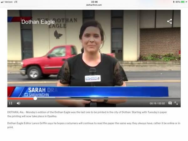Dothan Eagle Stops Printing Dothan Newspaper In Dothan