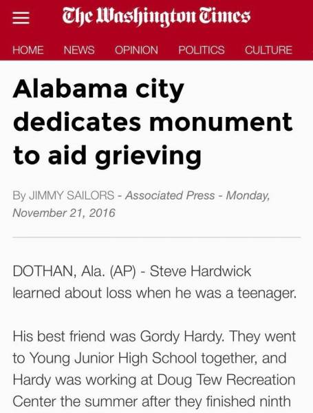 Dothan story in The Washington Times