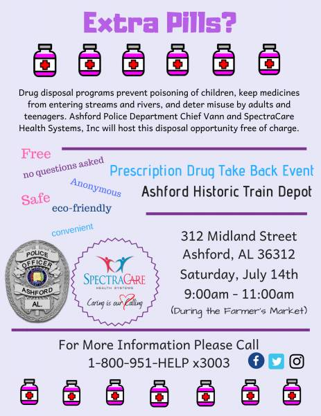 PRESCRIPTION DRUG TAKE BACKS IN HOUSTON COUNTY