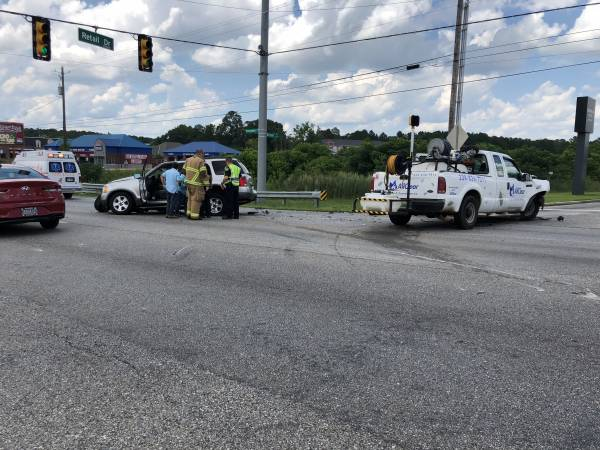 2:13 PM.  Two Vehicle Accident Montgomery Highway And Retail Drive
