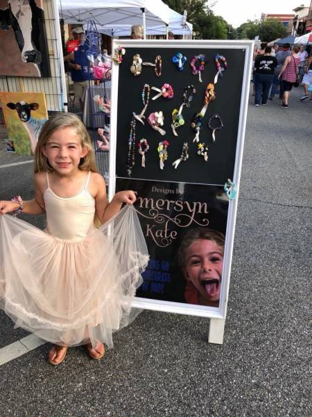 5 year old Emersyn Saneii raises money for the Angel Of Hope