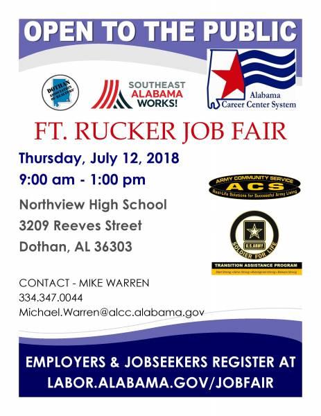 Ft. Rucker Wiregrass Job Fair - This Thursday