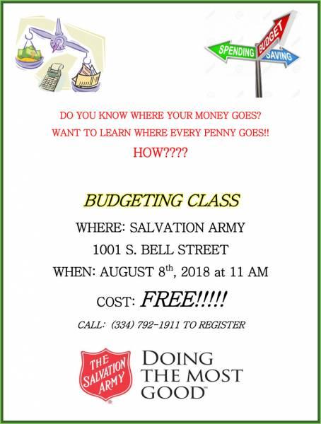 FREE Dothan Budgeting Workshop