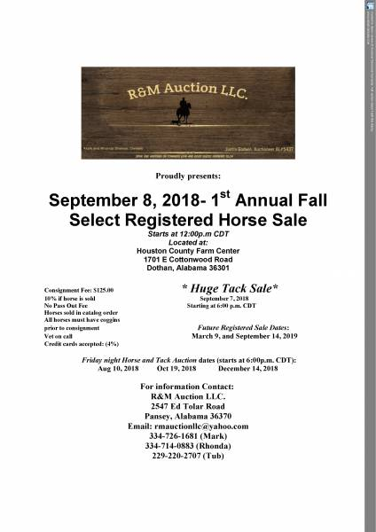 Horse and Tack Auction