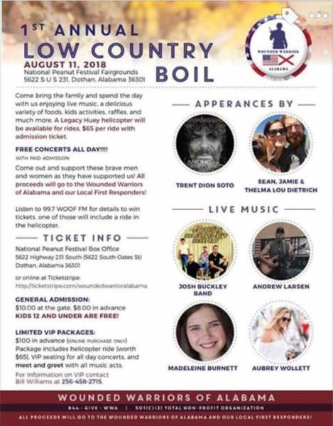 Wounded Warriors Of Alabama to Host the 1st Annaul Low Country Boil