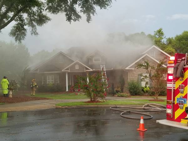 7:30 PM... Smoke from Roof at 100 Boulder Drive