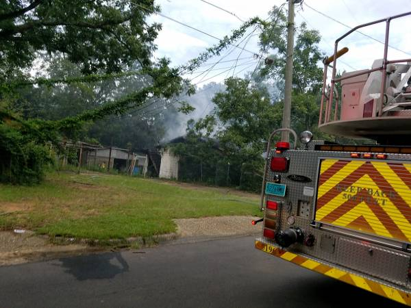 5:18 PM... Structure Fire at the Corner of Citadel and Vassar