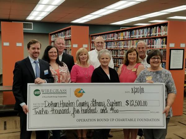Houston County Library System Ashford Branch Recieves Donation