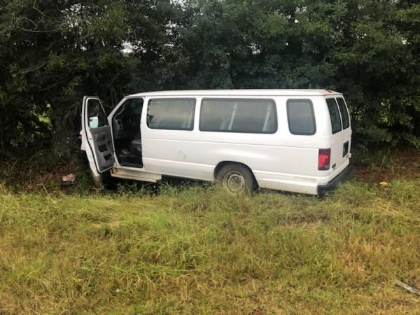 6:21 AM... Van vs Tree on Sonny Mixon Road at Dean Road