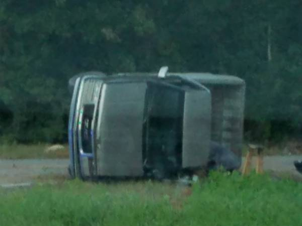 6:45PM... Overturned Vehicle on Hwy 109 at Boys Club Road