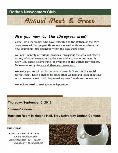 Dothan Newcomers Event
