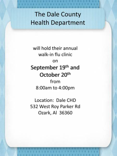 Dale County Health Department Flu Clinic
