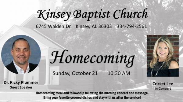 2018 Home Coming at Kinsey Baptist Church