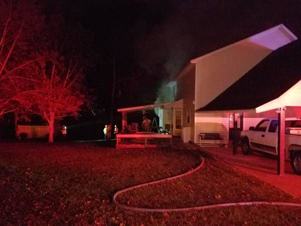 8:00 PM... Structure Fire at 525 Fuller Road