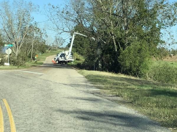 Utility Crews In Lovetown