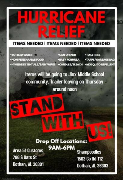 Hurricane Relief-Come Stand with Us