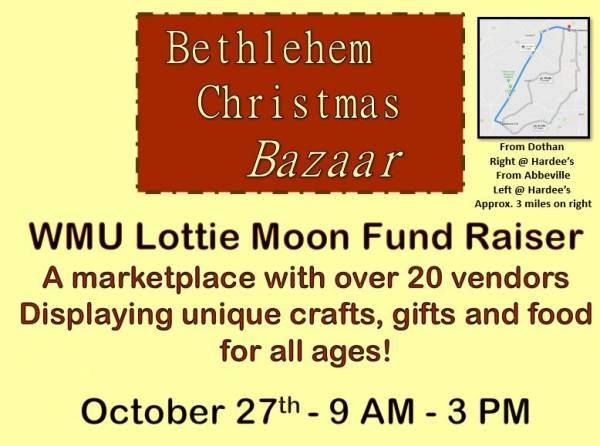 Bethlehem Baptist WMU Christmas Bazaar
