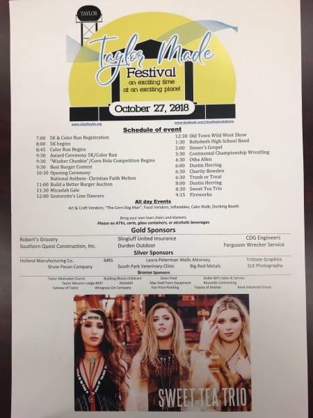 Taylor Made Festival Tomorrow