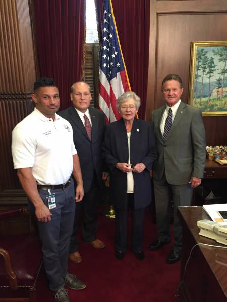 Representative Lee, Chesteen and EMA Director Judah Meet With Governor Ivey