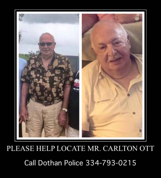 UPDATED @ 7:50 PM.    BOLO  BOLO   BOLO    Please Help Locate Mr. Ott