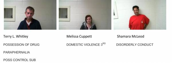 Dale County Sheriff's Office Mugshots of the Day for 11-12-2018