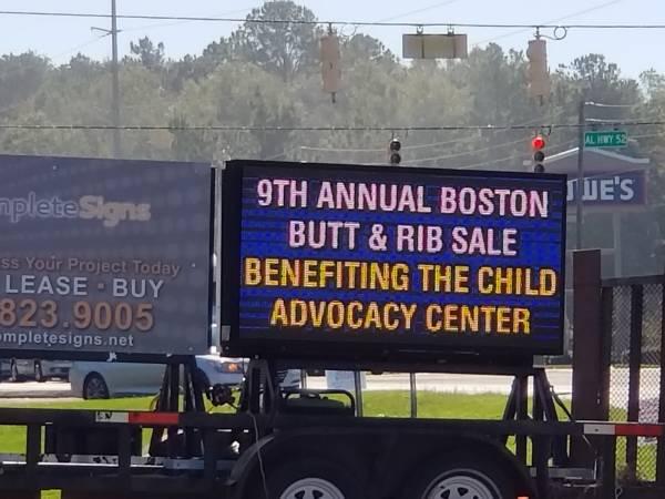 9th Annual Sarah Elizabeth Goree Boston Butt and Rib Sale