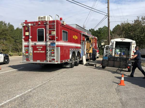 Haz Mat Behind Texas Road House
