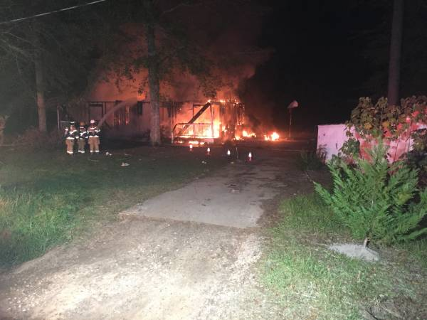 6:10 PM.   Structure Fire Fully Engulfed