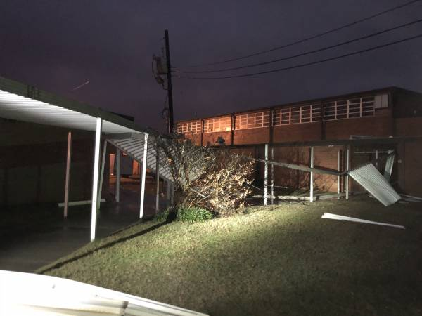 4:51 AM.      Damage In Houston County