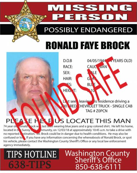Missing Person in Washington County Florida