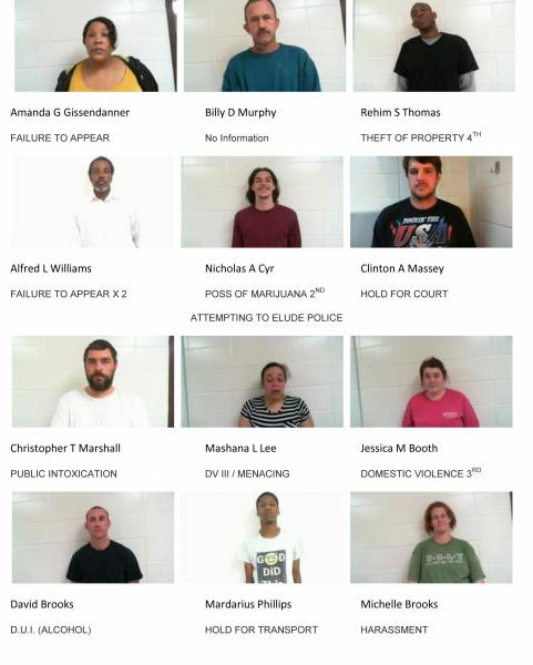 Dale County Sheriff's Office Mugshots for Weekend of 12/10/2018