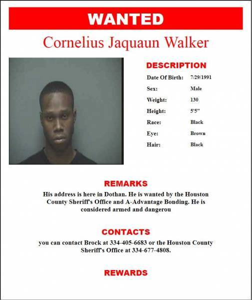 WANTED Cornelius Walker