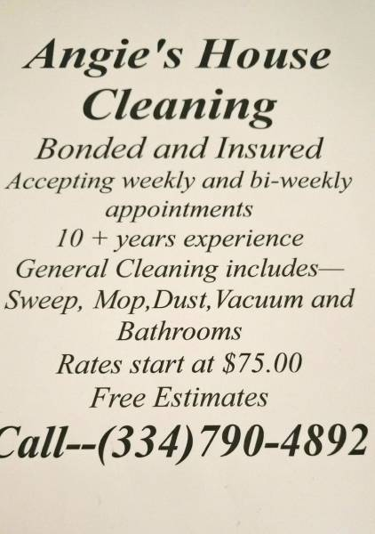 Angie's House Cleaning Service