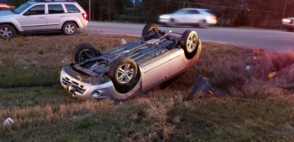 5:05 PM... Vehicle Overturned on US 231 at Olympia Drive