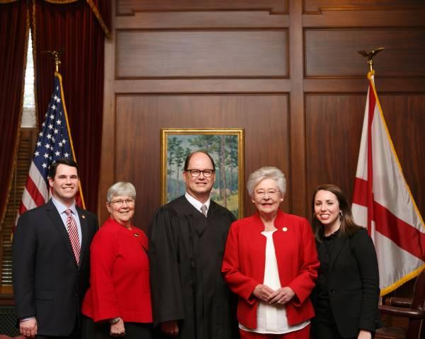 Swearing in of Judge William H. Filmore