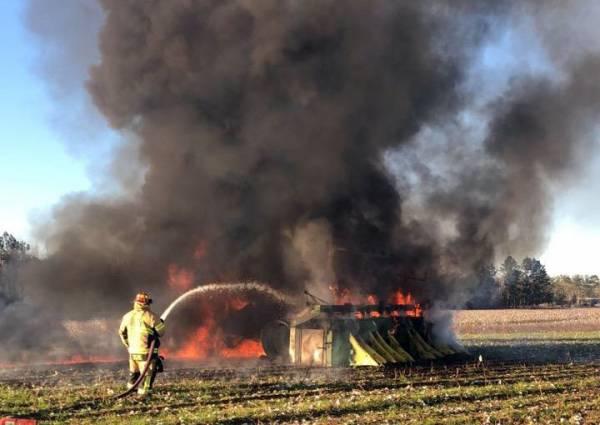 Cotton Picker Fire in Cottonwood
