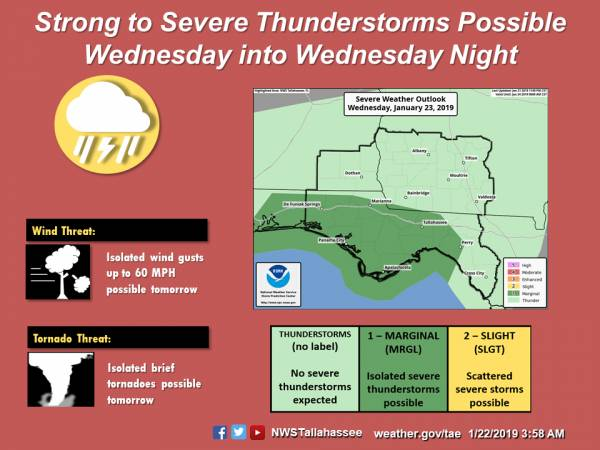 Severe Storms Possible Wednesday Evening