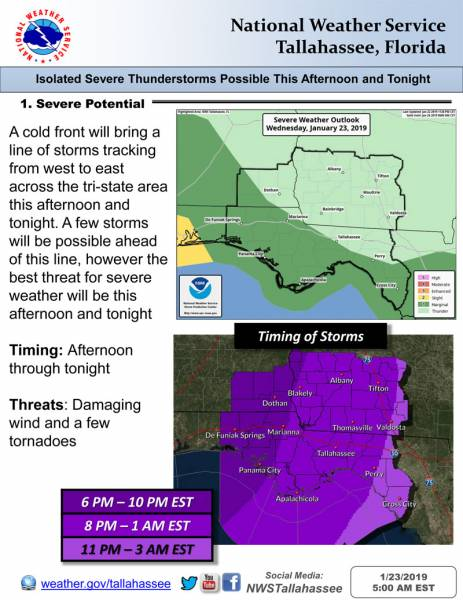 Isolated Severe Storms Possible This Afternoon and Tonight
